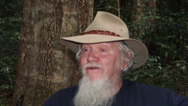 Peter HItchcock in his beloved northern NSW rainforest.