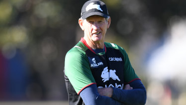 Wayne Bennett's dry sense of humour has been on show at Souths.
