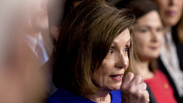 House Speaker Nancy Pelosi of California not discussing impeachment but trade.