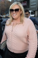 Rebel Wilson appears outside court for the beginning of her defamation case last year.