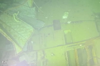 Parts of submarine KRI Nanggala that sank in Bali Sea, Indonesia.