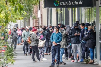 Queues outside Centrelink were a stark early sign of Australia's coronavirus unemployment woes.