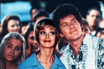 Shelley Long, centre, and Gary Cole in The Brady Bunch Movie.