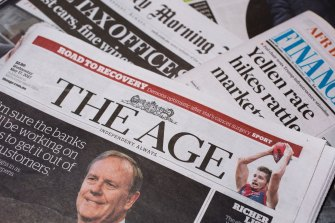 The Age is Victoria's most-read news title.