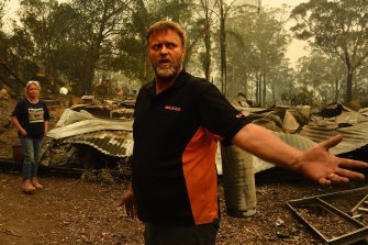 Ron Dunne  and his wife Anna lost their home near the NSW town of Nelligen on New Year's Eve, and said reduction of the nearby fuel load on Crown land could have reduced the fire's intensity.
