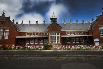 The old St Alipius Boys School in Ballarat is now a kindergarten.
