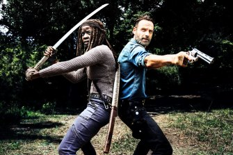 Rick (Andrew Lincoln) may be gone, but Michonne (Danai Gurira) and the gang walk on in The Walking Dead, a road map of sorts to the end times.