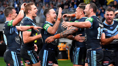 Ready for a Blue: NSW were up for Origin II and Queensland couldn't match them.