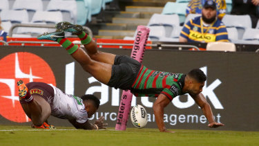 Baby bro Rob scores against Manly