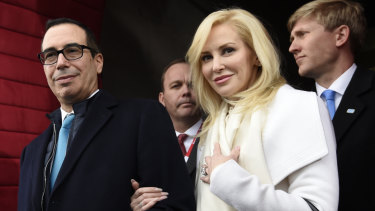Treasury Secretary Stephen Mnuchin and wife Louise Linton attended the four-day weekend.