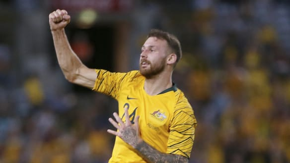 Tim Cahill passes the baton to new Socceroos star Martin Boyle