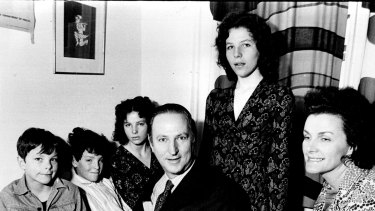 Dr William McBride with David, far left, and the rest of the McBride family in their Blakehurst home in 1972.