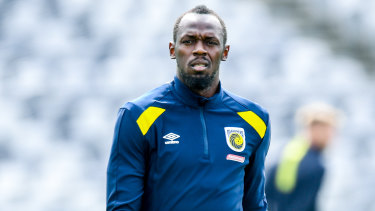 Debutant: Usain Bolt will get his first minutes as a Mariner on Friday night.