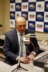 Home Affairs Minister Peter Dutton does a regular radio interview with Macquarie Media host Ray Hadley.