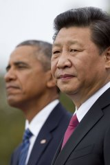 Chinese President Xi Jinping and US President Barack Obama at the White House in 2015, after their landmark emissions agreement.
