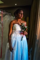 Judy Shepherd getting ready for the Butucarbin Aboriginal Corporation Naidoc Debutantes Ball in 2018.