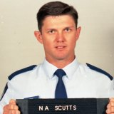 Senior Constable Neil Scutts had emergency surgery after he was shot during the robbery in 1999.
