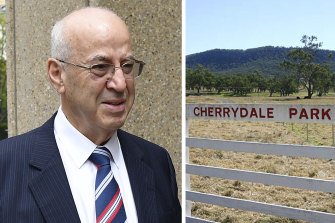 Eddie Obeid's farm Cherrydale Park, in the Bylong Valley, where a controversial coal exploration licence was granted.