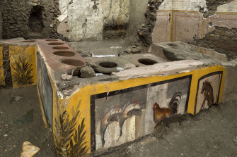 Archeologists have discovered some sort of snail, fish and mutton stew in the amphoras at the excavated snack bar in Pompeii.