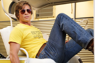 Globe frontrunner: Brad Pitt in Quentin Tarantino's Once Upon a Time in Hollywood.