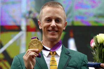 Better late than never: Jared Tallent was presented with a retrospective 50km walk gold medal.