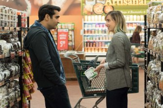 The Big Sick by Kumail Nanjiani, pictured with Zoe Kazan, put paid to the genre's unspoken whites-only policy.