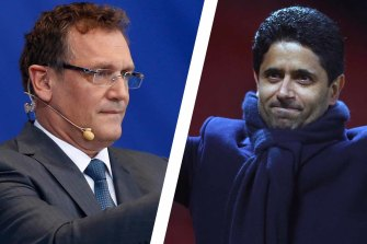 The former FIFA secretary general Jerome Valcke and Paris Saint-Germain president Nasser Al-Khelaifi have been charged by Swiss prosecutors.
