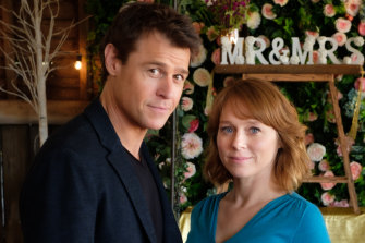 Good local drama: Rodger Corser as Dr Hugh Knight and Hayley McElhinney as Penny Cartwright in Doctor Doctor.