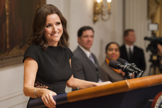 Julia Louis-Dreyfus as Selina Meyer in Veep.