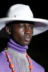 High necklines at Gucci.