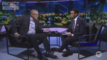 Scott Morrison appeared on The Project with co-host Waleed Aly on Thursday night.