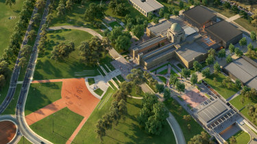 Artist impression of the planned $498.7 million redevelopment of the Australian War Memorial.