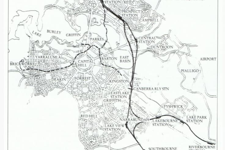 The Griffins' plans for light rail throughout Canberra.