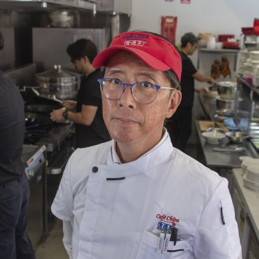 Cairns restaurateur Harry Sou has had to downsize his business to survive.