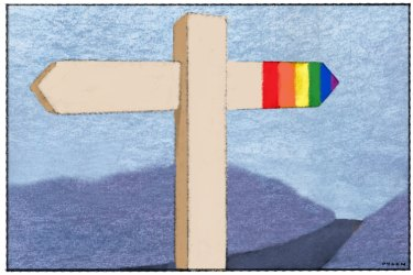Dyson illustration, re same sex marriage issue, church, Age opinion 2 June 2015