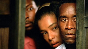 Don Cheadle starred in Hotel Rwanda, based off true events from 1994.
