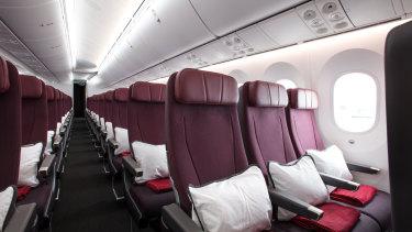 Qantas chief executive Alan Joyce has promised economy class passengers more legroom on the 'Project Sunrise' flights.