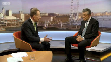 China's Ambassador to the UK Liu Xiaoming appears on the BBC's Andrew Marr Show, Sunday, 9 February, 2020.