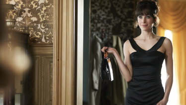 Geraldine Hakewill stars in Ms Fisher's Modern Murder Mysteries, airing on Seven in 2019.