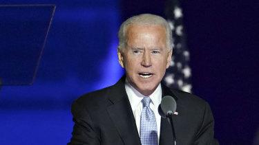 President-elect Joe Biden during his victory speech.