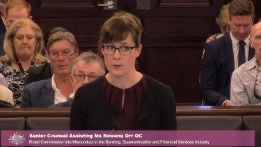 Senior counsel assisting Rowena Orr QC kept the heat on CBA.