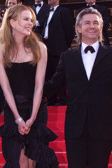 Nicole Kidman and Baz Luhrmann at the 2001 Cannes screening of Moulin Rouge.