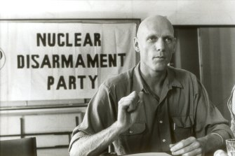 Peter Garrett would become a federal environment minister, but in the 1980s he was the front man for the Nuclear Disarmament Party.