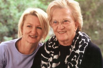 Sue Pieters-Hawke and her mother Hazel.
