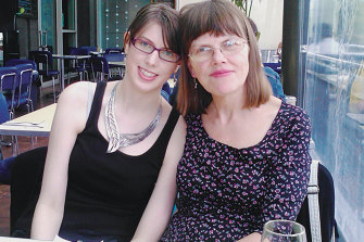 Mary K. Pershall (right) with her daughter Anna in 2012.
