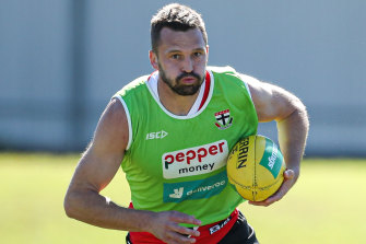Jarryn Geary training in Noosa on Wednesday.