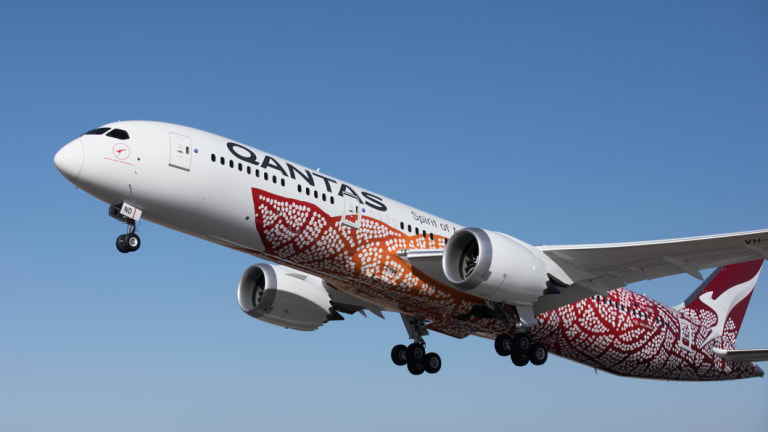 The Qantas Dreamliner was forced to return to Perth after the incident.