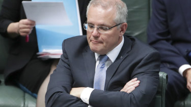 Not amused: Scott Morrison might not see the humour to the current situation.