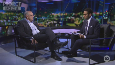 Scott Morrison defends his multicultural credentials to Waleed Aly during a tense interview on The Project.