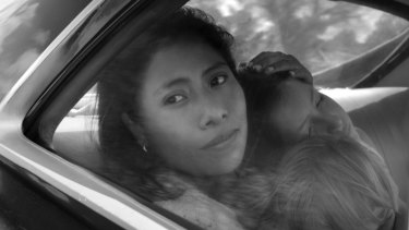 Unlikely favourite to win best picture at the Oscars: Yalitza Aparicio in Roma.